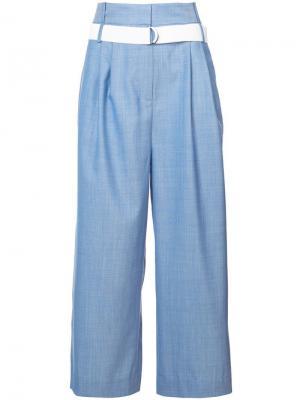 Широкие брюки со складками Serge Tibi. Цвет: синий