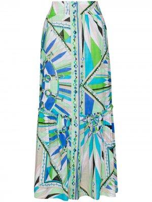 Юбка макси с принтом Emilio Pucci. Цвет: синий