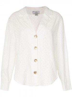 Рубашка Bronte свободного кроя с английской вышивкой We Are Kindred. Цвет: белый
