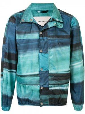 Куртка с абстрактным принтом Cerruti 1881. Цвет: синий