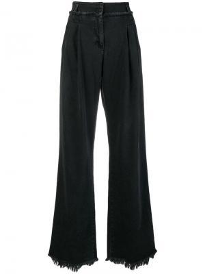 Расклешенные джинсы с эффектом потертости Philosophy Di Lorenzo Serafini. Цвет: черный