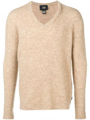 Пуловер с V-образным вырезом Cavalli Class. Цвет: нейтральные цвета