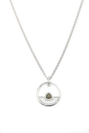 Кулон на цепочке Inesse M. Цвет: серебряный