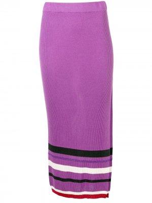 Трикотажная юбка с завышенной талией Cashmere In Love. Цвет: фиолетовый