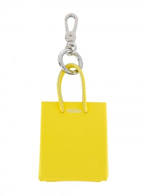 Брелок в виде сумки-тоут Medea. Цвет: желтый