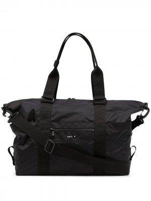 Дорожная сумка с логотипом agnès b.. Цвет: черный