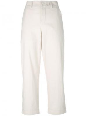 Зауженные укороченные брюки Toogood. Цвет: нейтральные цвета