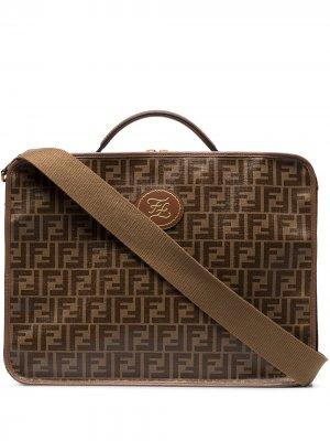 Дорожная сумка Mania с узором FF Fendi. Цвет: коричневый