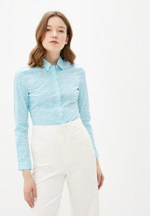 Рубашка Marks & Spencer. Цвет: бирюзовый