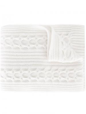 Трикотажный шарф N.Peal. Цвет: нейтральные цвета