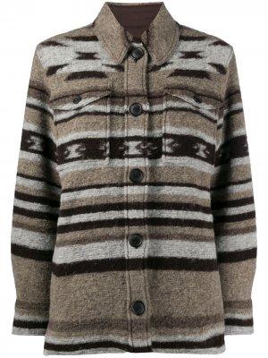 Куртка Gastoni с узором Isabel Marant Étoile. Цвет: коричневый