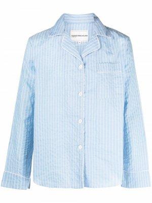 Пижамная рубашка в тонкую полоску Youths In Balaclava. Цвет: синий