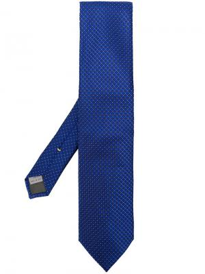 Abstract patterned tie Canali. Цвет: синий