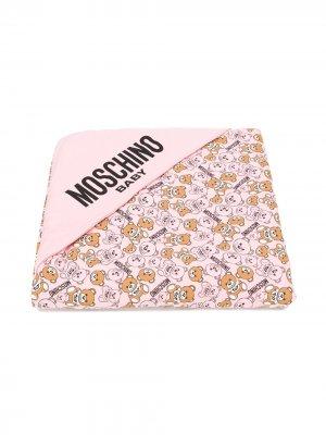 Пеленальный коврик с принтом Teddy Bear Moschino Kids. Цвет: розовый