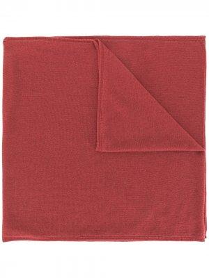 Шарф тонкой вязки Colombo. Цвет: красный