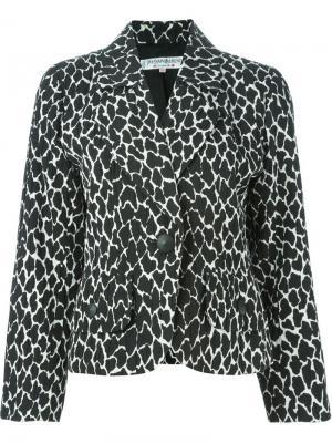 Укороченный пиджак Yves Saint Laurent Pre-Owned. Цвет: черный