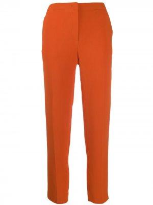 Укороченные брюки кроя слим Escada. Цвет: оранжевый