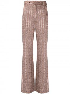 Расклешенные брюки в полоску Missoni. Цвет: оранжевый