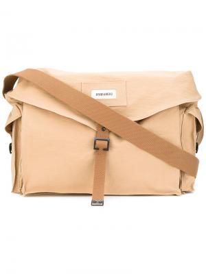 Дорожная сумка в стиле милитари Dsquared2. Цвет: телесный