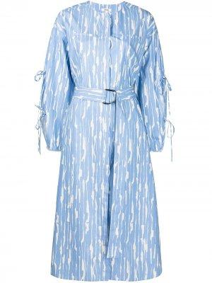 Платье с абстрактным принтом Jason Wu. Цвет: синий