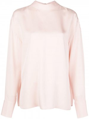Блузка с длинными рукавами и завязками Jason Wu. Цвет: розовый