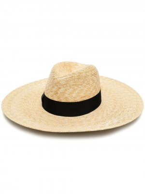 Соломенная шляпа Sophie Borsalino. Цвет: нейтральные цвета