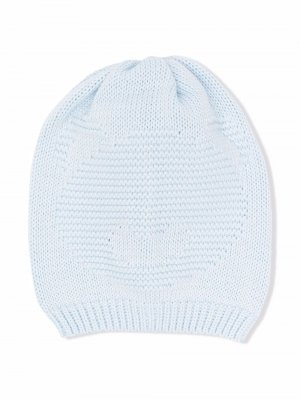 Трикотажная шапка бини Little Bear. Цвет: синий