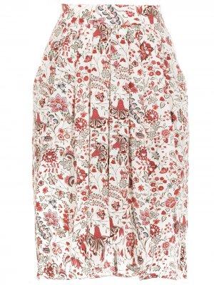 Юбка Ginkinali с цветочным принтом Isabel Marant. Цвет: нейтральные цвета