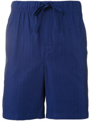 Домашние шорты с узором елочкой Otis Batterbee. Цвет: синий