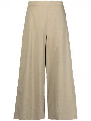 Укороченные брюки широкого кроя Stefano Mortari. Цвет: зеленый