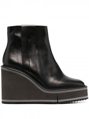 Ботинки Marmont 115 на платформе Clergerie. Цвет: черный