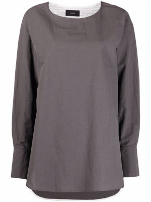 Рубашка Bregan с вырезом-лодочкой Joseph. Цвет: серый
