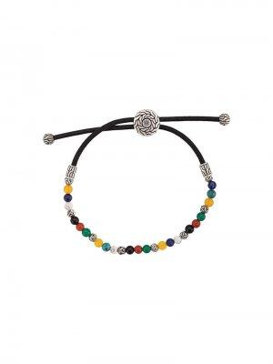 Silver Classic Chain Mixed Stone Bead Pull Through Bracelet John Hardy. Цвет: разноцветный