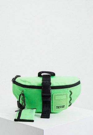 Сумка поясная Versace Jeans Couture. Цвет: зеленый