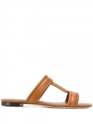 Tods сандалии с Т-образным ремешком Tod's. Цвет: коричневый