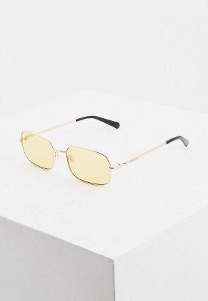 Очки солнцезащитные Love Moschino. Цвет: желтый