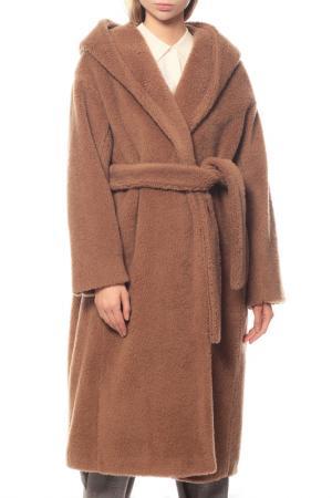Пальто MAXMARA. Цвет: коричневый