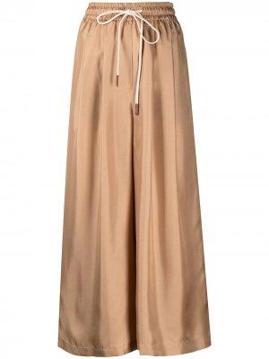Укороченные брюки широкого кроя Alysi. Цвет: коричневый