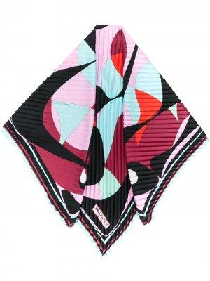 Плиссированный платок Alex с принтом Emilio Pucci. Цвет: розовый