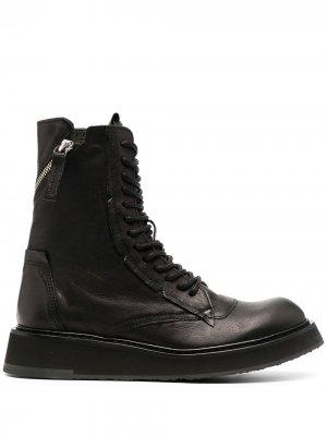 Ботинки в стиле милитари на шнуровке Cinzia Araia. Цвет: черный