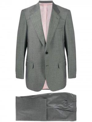 Костюм с однобортным пиджаком Brioni. Цвет: серый