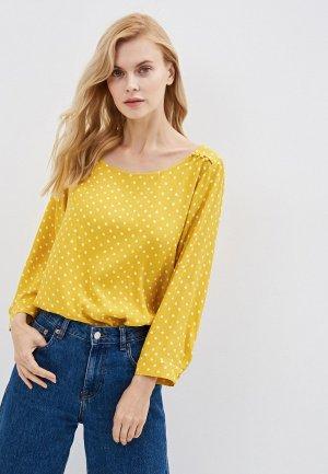 Блуза Gap. Цвет: желтый