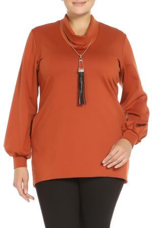 Туника с кулоном Classic Fashion. Цвет: коричневый