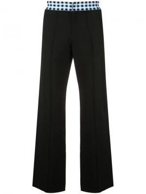 Прямые брюки Wales Bonner. Цвет: черный