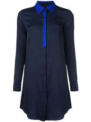 Платье-рубашка Milly. Цвет: синий