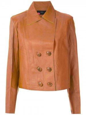 Куртка на пуговицах Eva. Цвет: коричневый