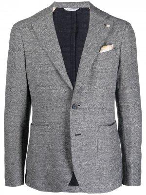 Однобортный пиджак из джерси Manuel Ritz. Цвет: белый