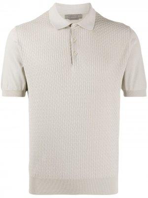 Рубашка поло с декоративной строчкой Corneliani. Цвет: нейтральные цвета