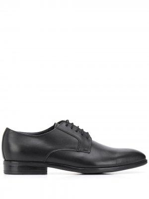 Туфли дерби с квадратным носком PS Paul Smith. Цвет: черный
