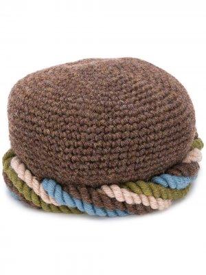 Вязаная шапка 1970-х годов Yves Saint Laurent Pre-Owned. Цвет: коричневый